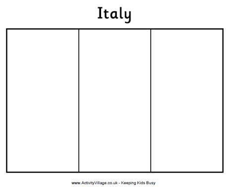 geography  kids italy flag coloring page italy