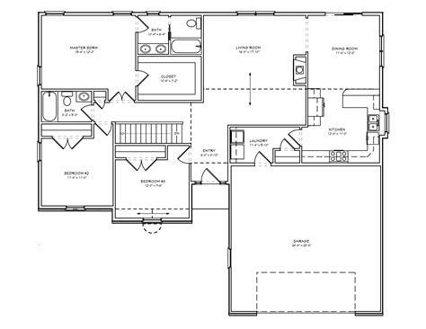 3 bedroom house blueprints kelana plans garage
