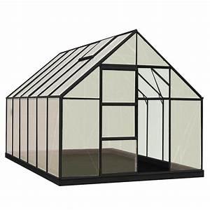 Leroy Merlin Jardinerie : serre de jardin en polycarbonate simple paroi rainbow noir ~ Nature-et-papiers.com Idées de Décoration