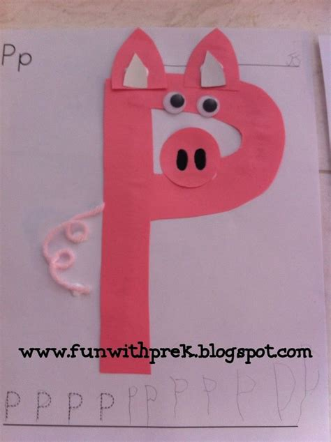 preschool craft for p p is for pig and pink that s 949   ca77a68851e6be2bd1fe88e11faec722