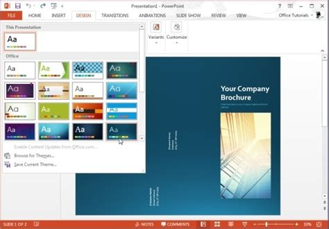 Powerpoint Brochure Templates by Free Brochure Templates For Microsoft Powerpoint