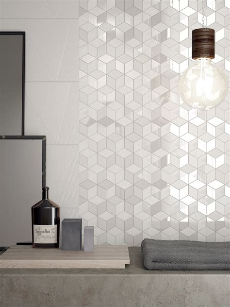 different collection hexagon tiles white color