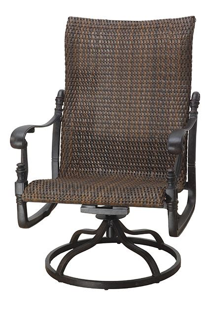 high back swivel rocker patio chairs florence by gensun luxury wicker patio furniture high back