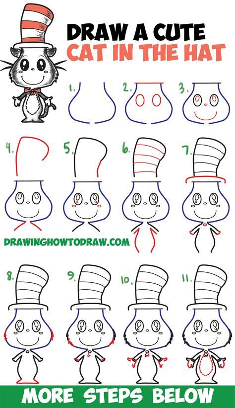 draw  cat   hat cute kawaii chibi