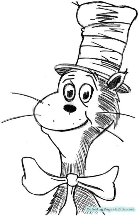 cat   hat  coloring pages  printable