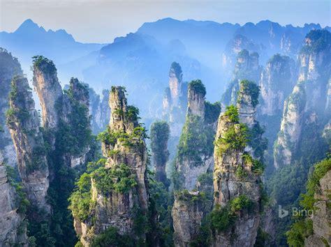 china hunan zhangjiajie floresta nacional parque
