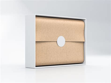 Best free packaging mockups from the trusted websites. Opened White Gift Box Mockup With Brown Kraft Wrapping ...