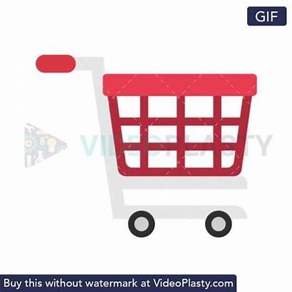 Shopping Icon Flat Animated Animation Gifs Videoplasty