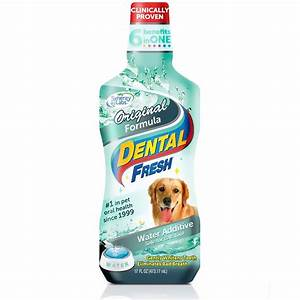 Dental fresh original formula water additive for dogs 17 for Dog dental water additive