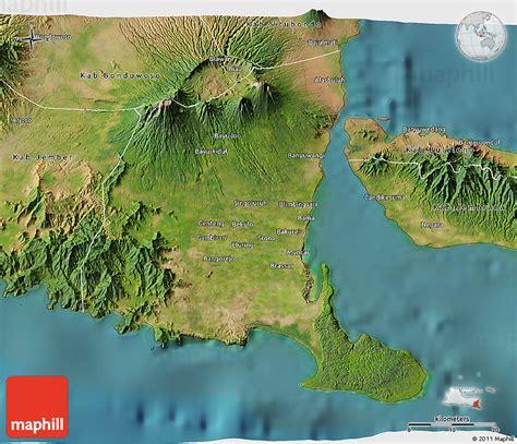 satellite  map  kab banyuwangi