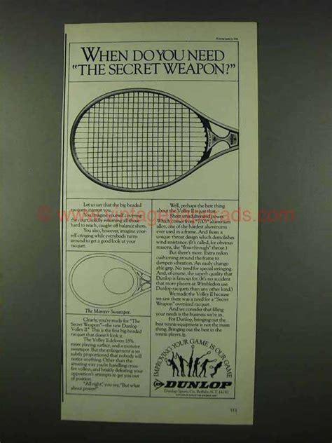 dunlop volley ii tennis racquet ad