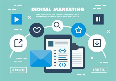 free digital marketing free digital marketing business vector illustration
