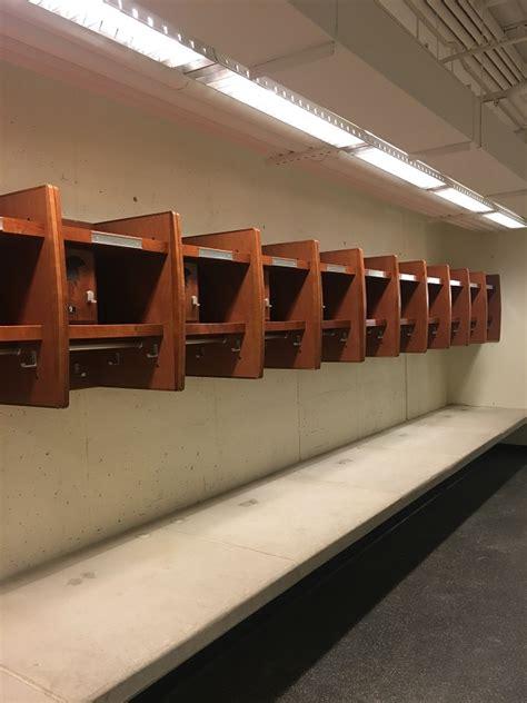 wood sports locker installations   wood lockers