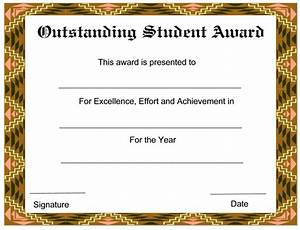 outstanding student new award certificates template With free award certificate templates for students