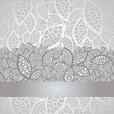 luxury silver leaves lace border  background stock