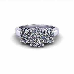 three stone oval engagement ring jewelry designs With stone wedding rings