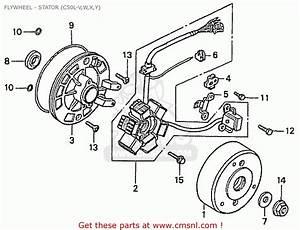 Honda C50lw Little Cub  Japan  Flywheel