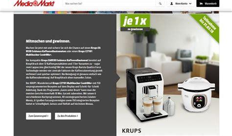 Mediamarkt Gewinnspiel Krups Kaffeevollautomat Oder Multikocher Cook4me