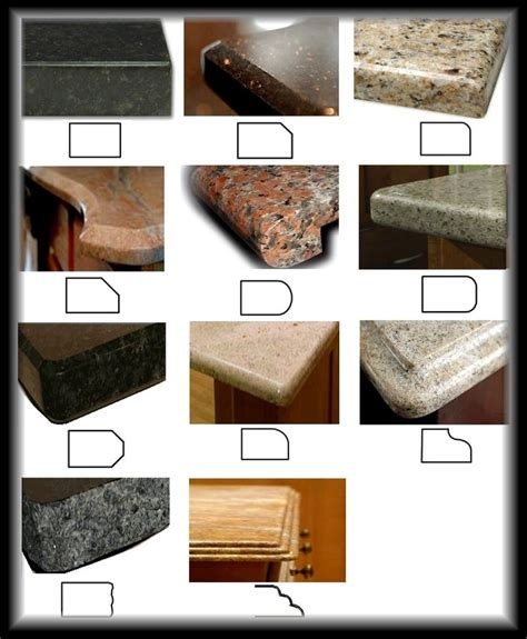 granite countertop edges most popular 21 best images about countertop edges on
