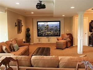 Basement design ideas for family room for Fascinating finished basement storage ideas