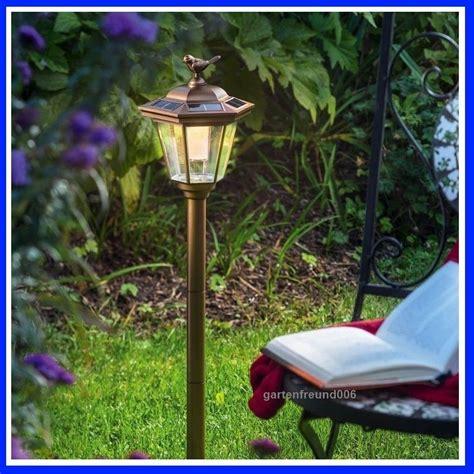 Solar Led Gartenlaterne Standleuchte Solarleuchte Laterne