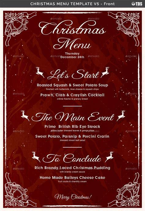 christmas menu christmas menu template v5 by lou606 graphicriver