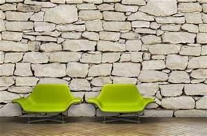 Papier Peint Pierre Blanche : mur en papier peint imitation pierre blanche du lub ron ~ Dailycaller-alerts.com Idées de Décoration