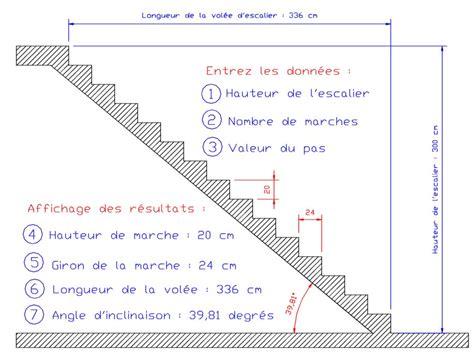 formule de l escalier calcul longueur vol 233 e