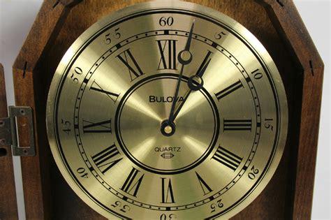 Bulova Wall Pendulum Clock Hermle 1217 Quartz Movement And