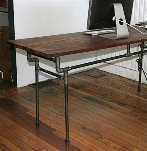 pipe desk plans recycled steel pipes furniture and home accessories