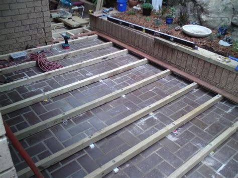 diy decking  concrete  images deck