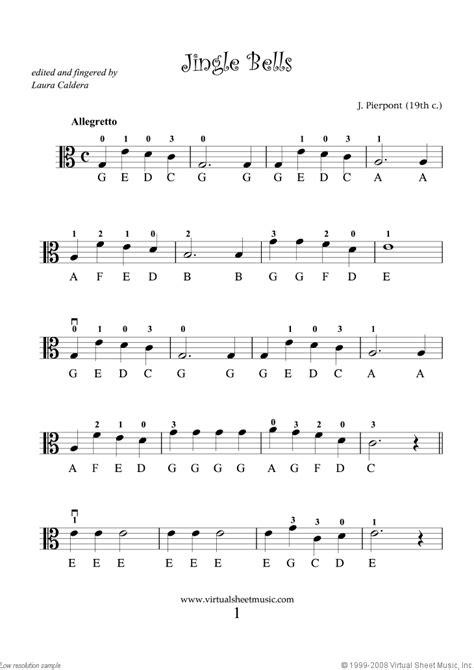 viola solo christmas sheet  carols  easy