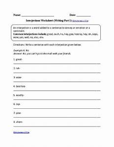 Interjections Worksheet 2 ELA-Literacy.L.5.1a Language ...