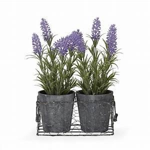Plante Artificielle Alinea : lavandes artificielles dans leur pot et panier en m tal lavande lavandes les plantes ~ Teatrodelosmanantiales.com Idées de Décoration