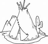 Coloring Pages Cherokee Indian Native American Printable Popular sketch template