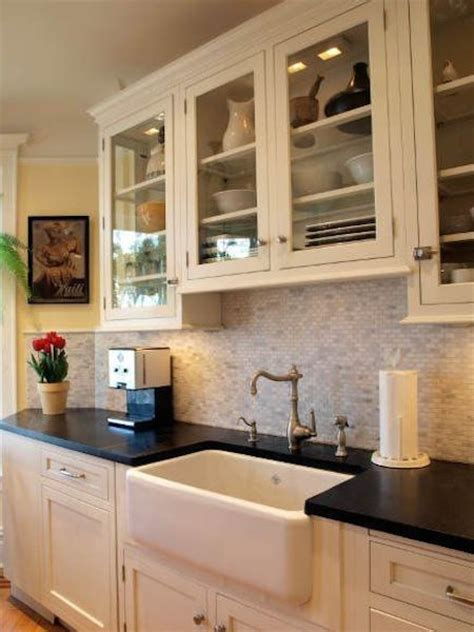 Options for a kitchen design with no window over the sink
