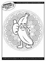 Banana Coloring Quiz sketch template