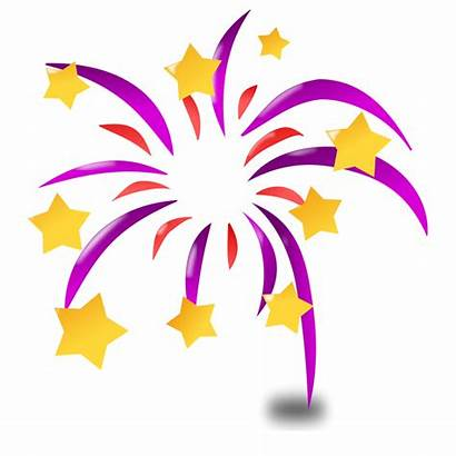 Celebration Cartoon Clipart Animated Fireworks Background Clip