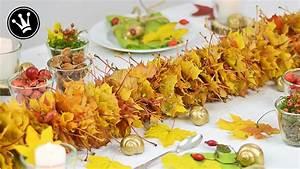 Girlande Selber Machen : diy herbstdeko i girlande aus herbstlaub selber machen i basteln mit kindern i tischdeko youtube ~ Orissabook.com Haus und Dekorationen