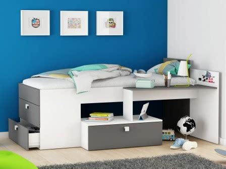 lit mezzanine combiné bureau lit ado lit et mobilier chambre ado lit pour adolescent