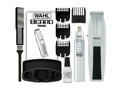 Wahl 5537-420 12-pieces Mustache Beard Nose Battery