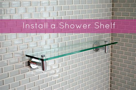 shower shelf installation how to install a recessed shower shelf bathroom