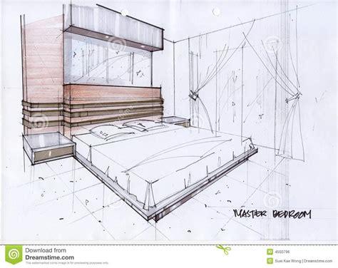 couleur de chambre parentale illustration du croquis 3d pour une chambre à coucher