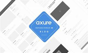 axure responsive template blog website 2 With axure tablet template