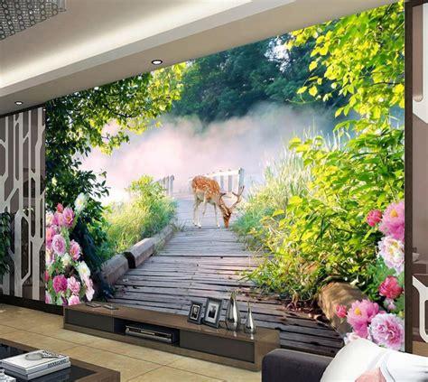 wall murals wallpaper customized hd forest wallpaper