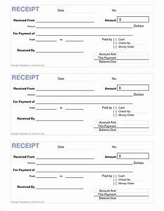 7 printable cash receipt bookletemplateorg With printable receipt