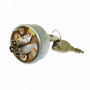 Ignition Switch For Ride On Mowers 3 Position 6 Terminals