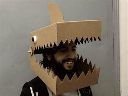 Shark Mask Cardboard Activated Sound Adafruit Cheap