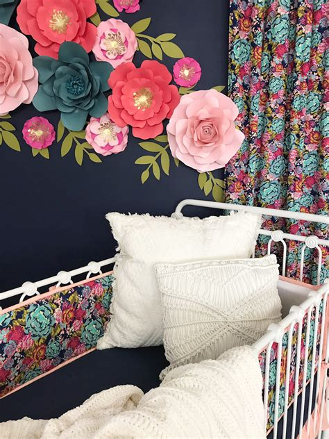 design reveal jocelyns dark floral nursery project nursery
