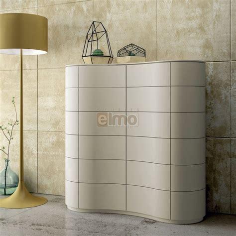 casier cuisine meuble bar design contemporain laqué 4 portes galbées curve